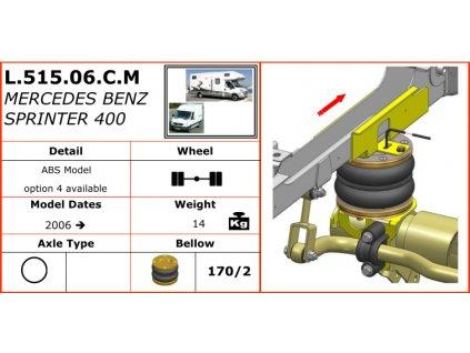 Dunlop vzduchové pérování na Mercedes Benz Sprinter 400   2006-