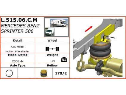 Dunlop vzduchové pérování na Mercedes Benz Sprinter 500   2006-