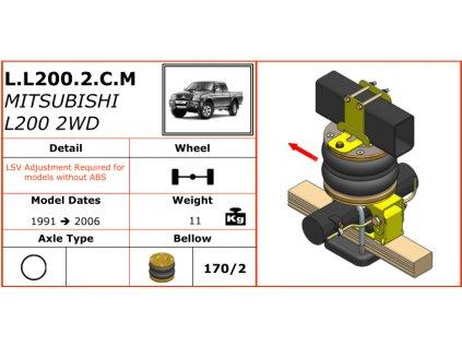 Dunlop vzduchové pérování na Mitsubishi L200 2WD   1991-2006