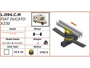 Vzduchové pérování na Fiat Ducato X230  03/1994-04/2002
