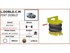 Dunlop vzduchové pérování na Fiat Doblo  03/2001-12/2010