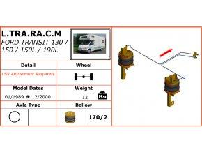 Vzduchové pérování na Ford Transit 130/150/150L/190L  01/1989-12/2000
