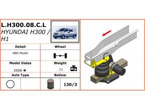 Vzduchové pérování na Hyundai H300/H1   2008-