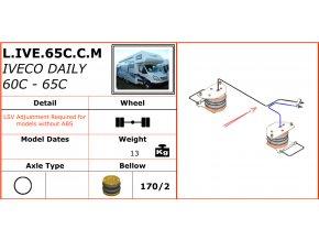 Dunlop vzduchové pérování na Iveco Daily 60C-65C
