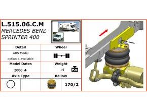 Vzduchové pérování Dunlop na Mercedes Benz Sprinter 400   2006-