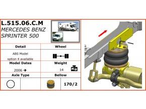 Vzduchové pérování Dunlop na Mercedes Benz Sprinter 500   2006-