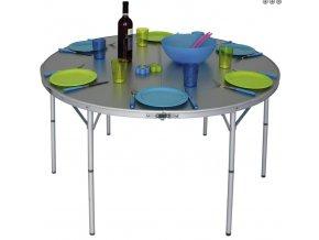 SKLÁDACÍ KEMPOVÝ STOLEK Aluminium Table Circle  (611/169)