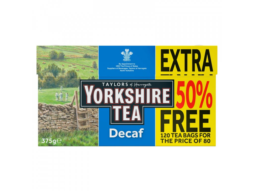 yorkshire tea decaf 80 teabags 50 free 375g 73680 T1