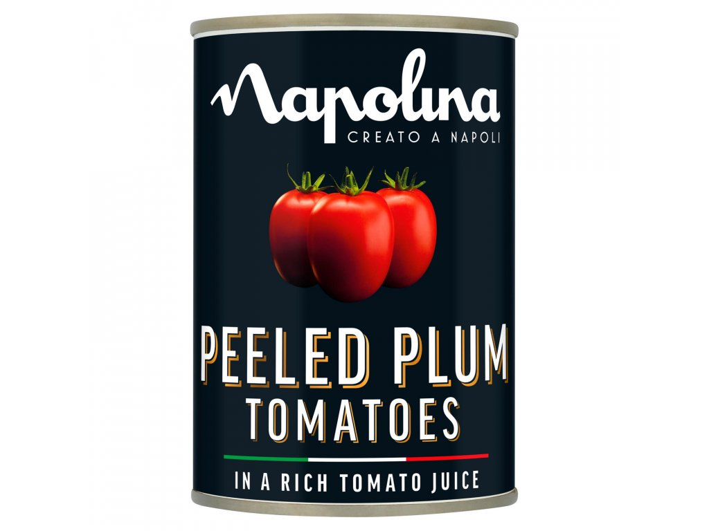 napolina peeled plum tomatoes in a rich tomato juice 400g 40157 T596