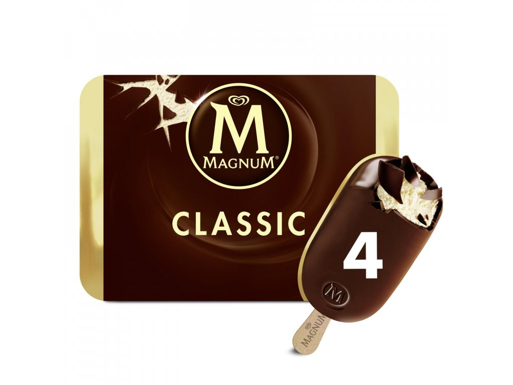 magnum chocolate ice cream 4 x 110ml 58419 T517