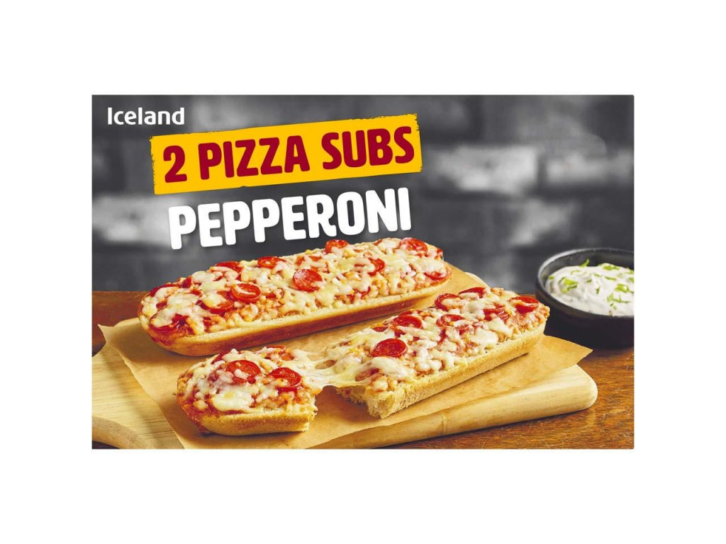 iceland 2 pizza subs pepperoni 264g 68653