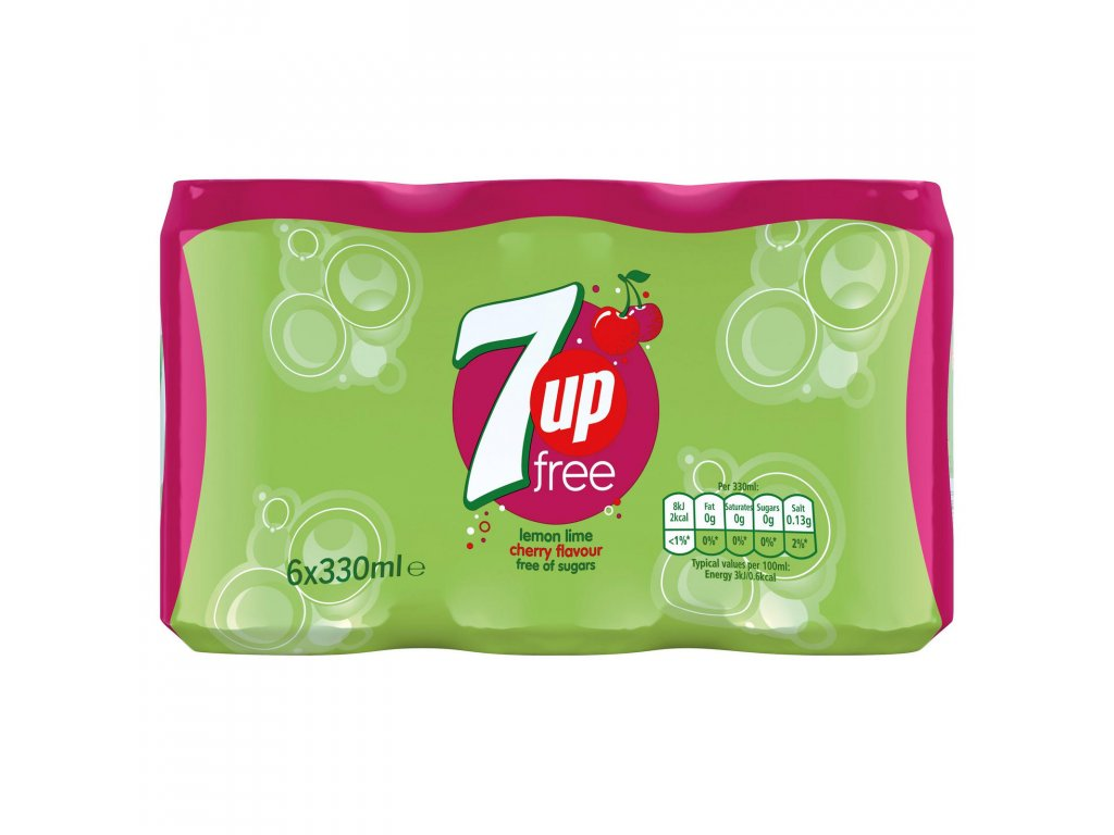 1568 7up free lemon lime cherry se sladidly 6x330ml