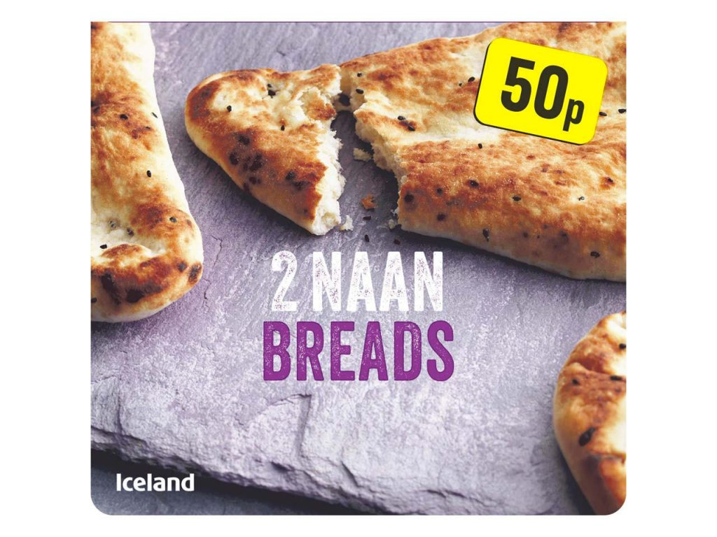 iceland 2 naan breads 220g 63377