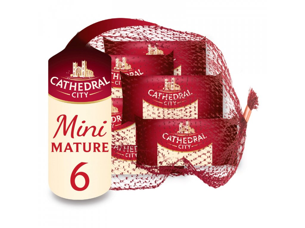 cathedral city mini mature cheeses 6 x 20g 69084 T1