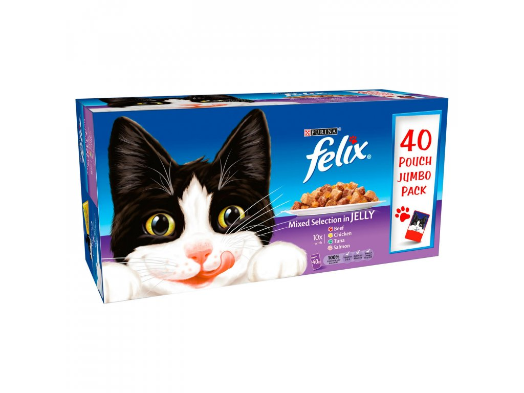 felix mixed selection in jelly wet cat food 40x100g 68437 T1