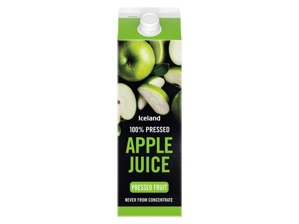 iceland 100 pressed apple juice never from concentrate 1l 64571