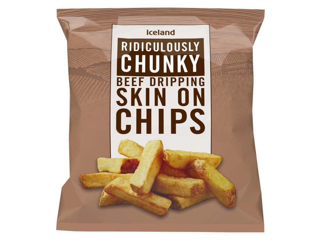 iceland ridiculously chunky skin on chips 900g 76869