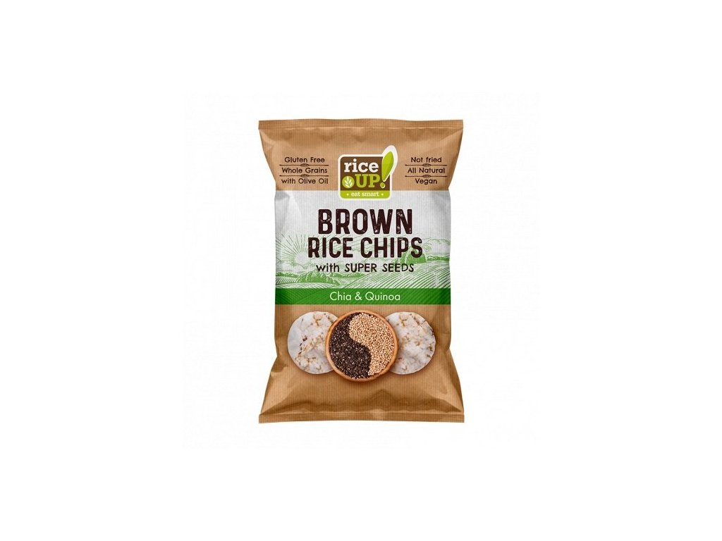 10169 rice up brown rice chips superseeds chia quinoa 60g mock up s