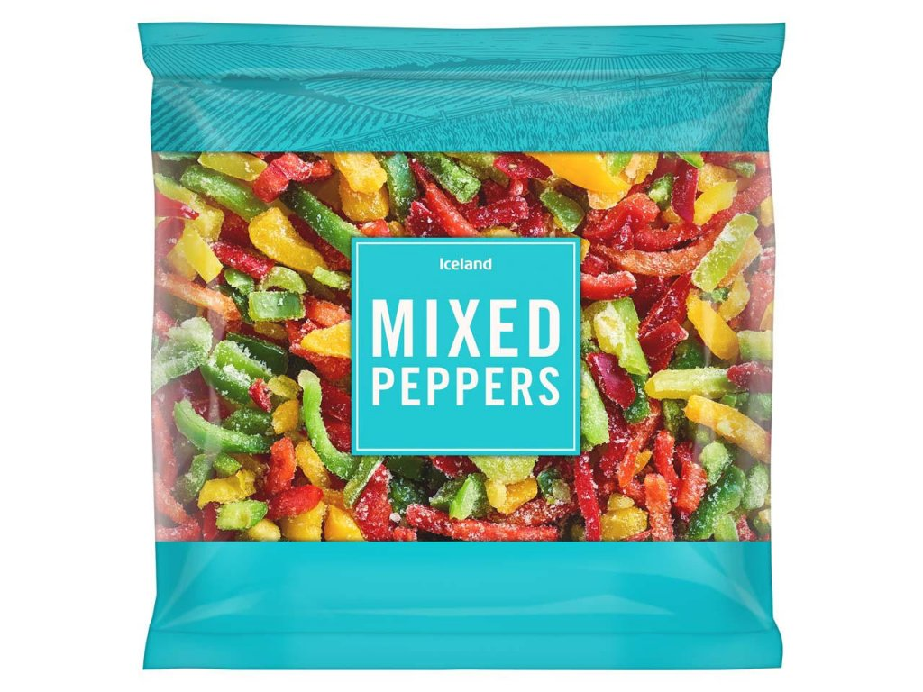 iceland mixed peppers 650g 83681