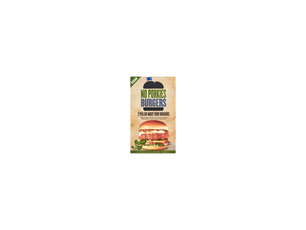 no porkies pulled meat free burgers 2 x 113g 226g 76389 T1