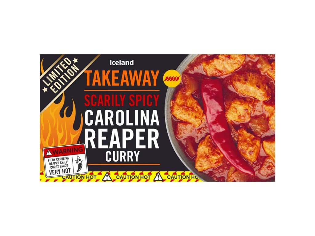 iceland scarily spicy carolina reaper curry 375g 73398