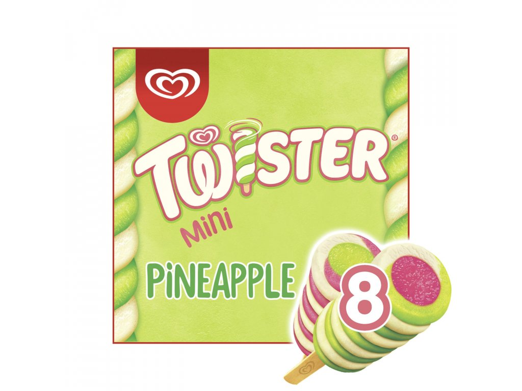 twister pineapple lemon lime and strawberry mini ice cream lolly 8 x 50 ml 16380 T517