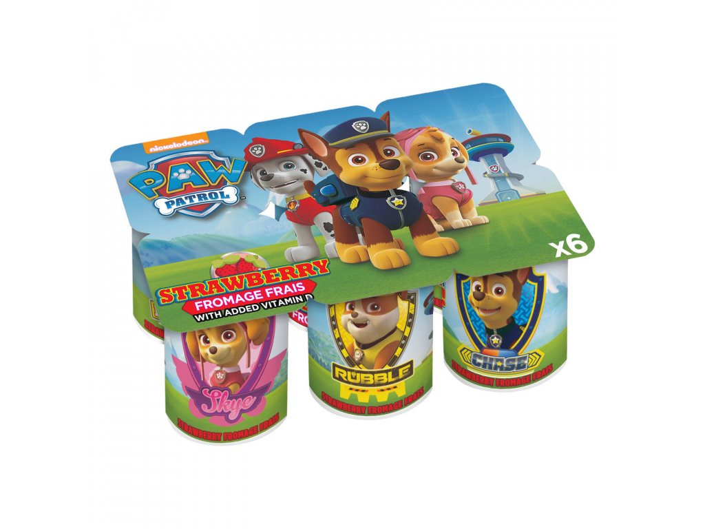 paw patrol strawberry fromage frais 6 x 45g 68687 T1