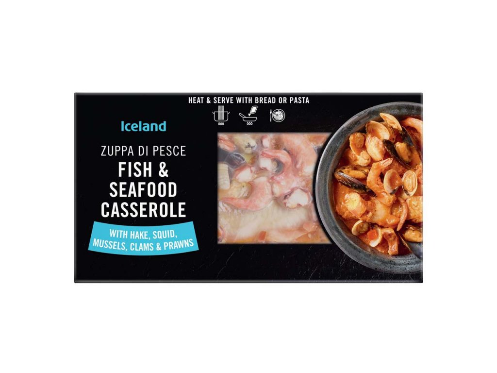 iceland fish and seafood casserole 450g 64265