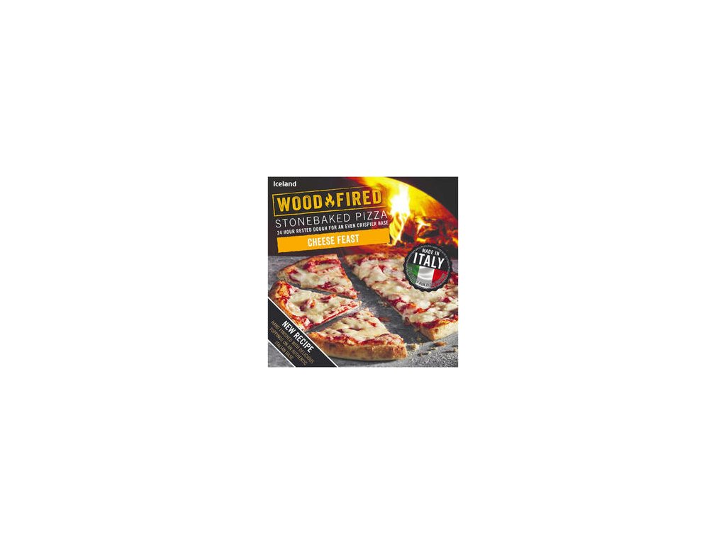 iceland cheese feast stonebaked pizza 298g 81276