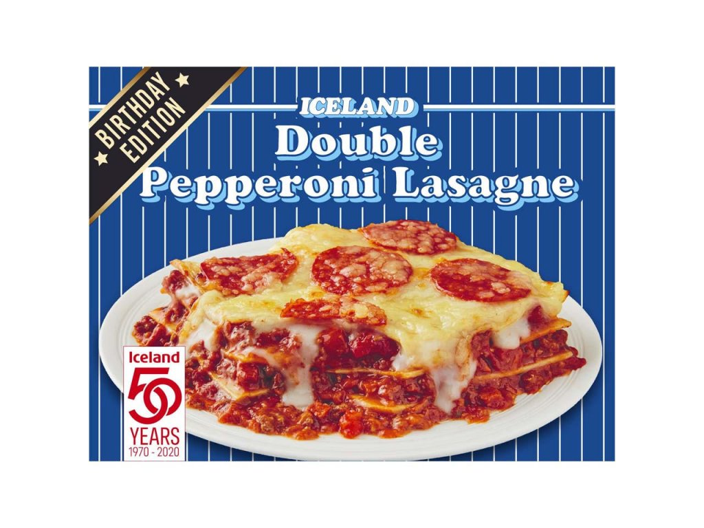 iceland double pepperoni lasagne 400g 81376