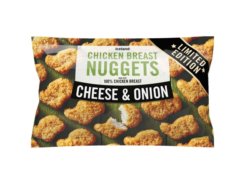 iceland cheese and onion chicken breast nuggets 440g 79988