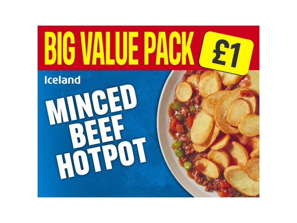 iceland minced beef hotpot 500g 50826