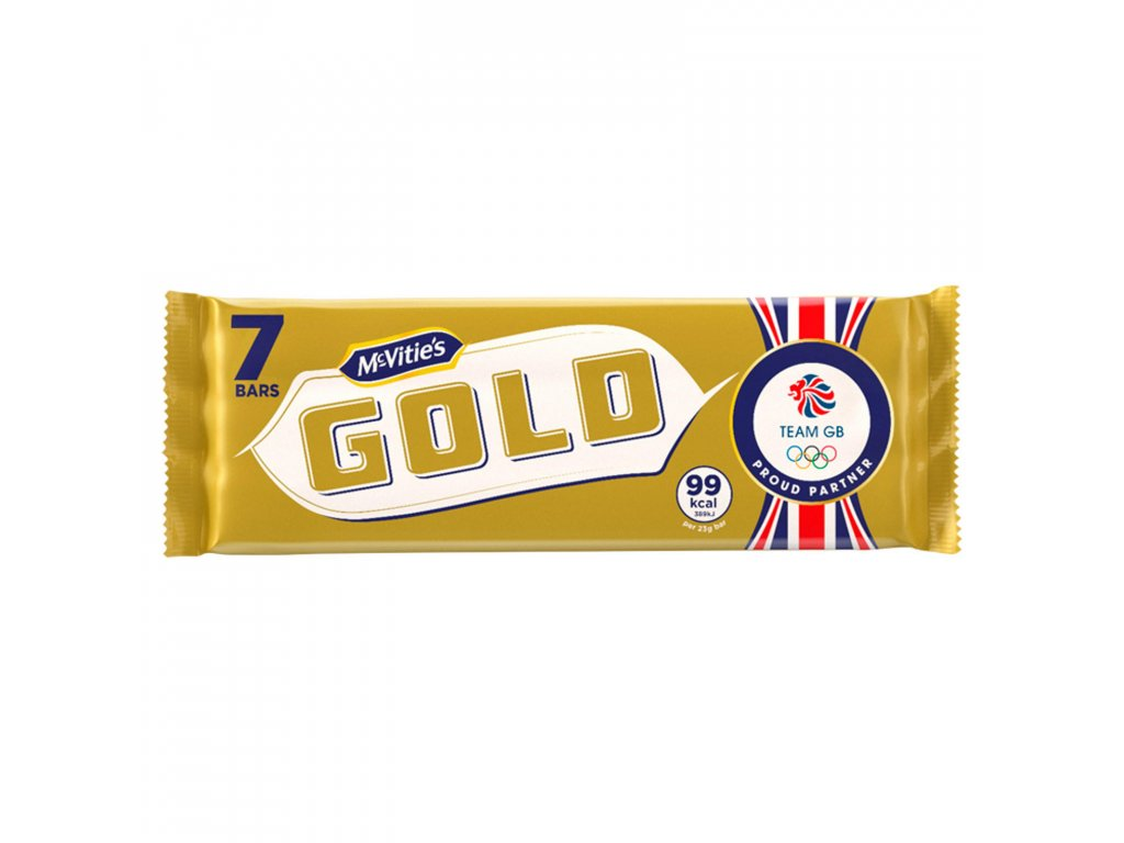 mcvities gold caramel flavoured biscuits bars 7 pack 124g 73535 T1