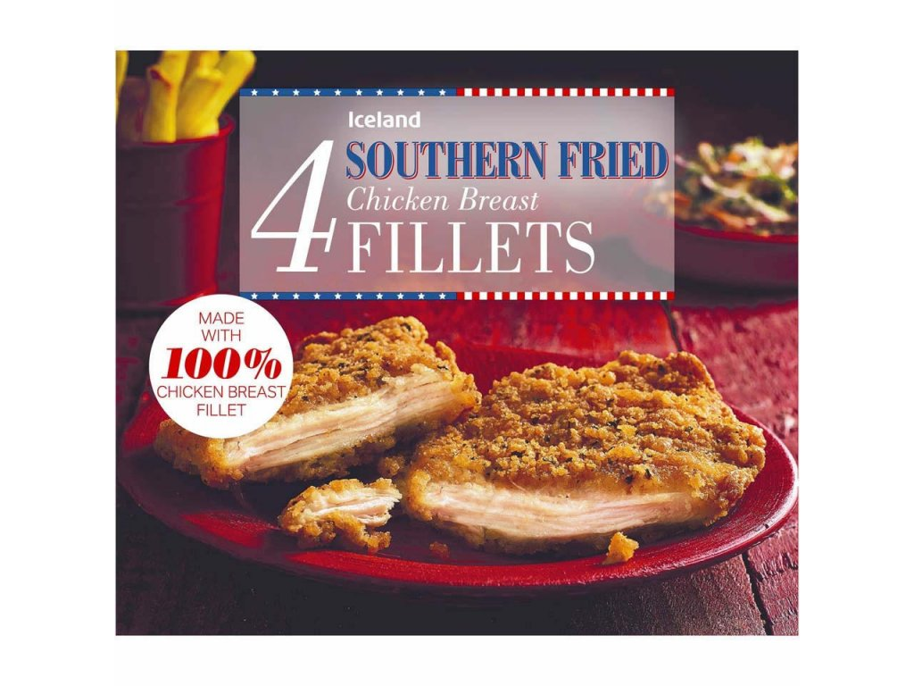 iceland 4 southern fried chicken breast fillets 380g 66812