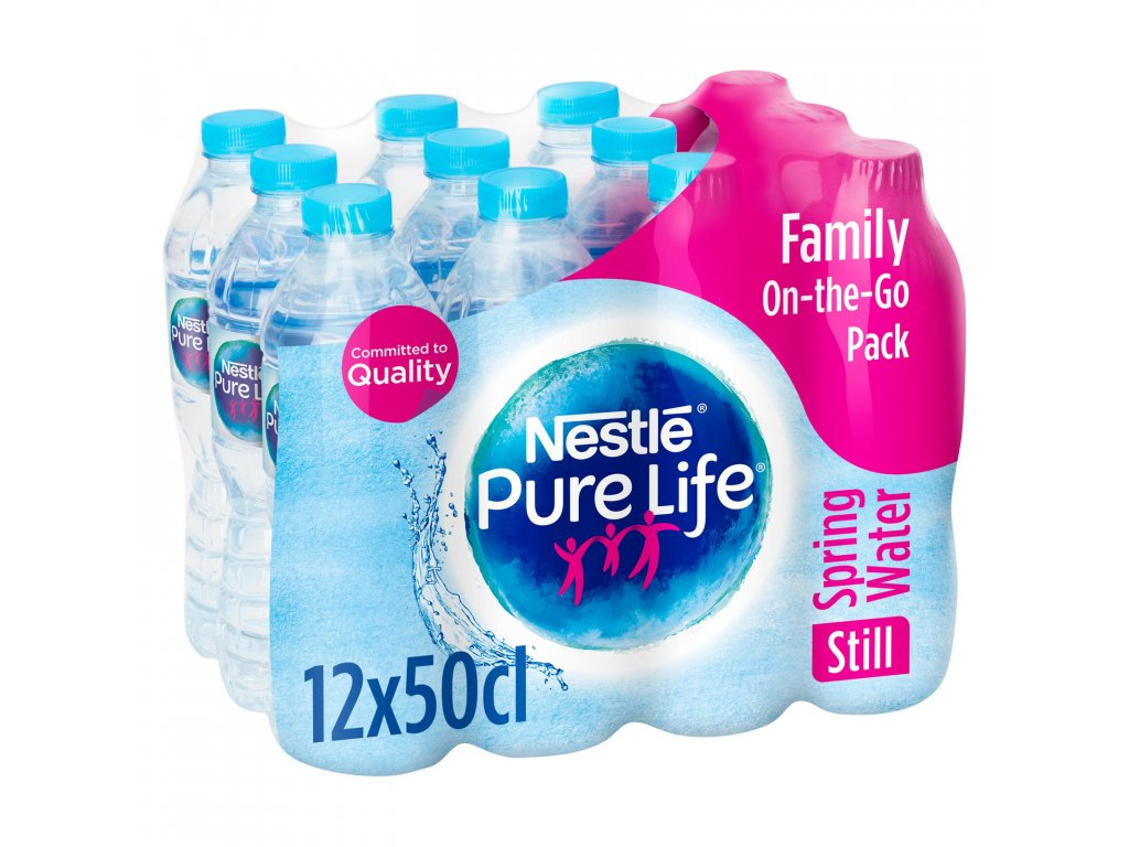 nestle pure life still spring water 12x500ml 68207 T1