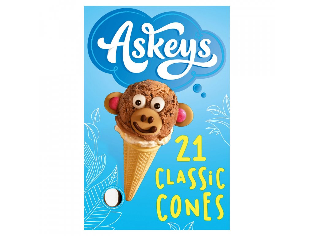 askeys 21 classic cones with sweetener 4159 T1