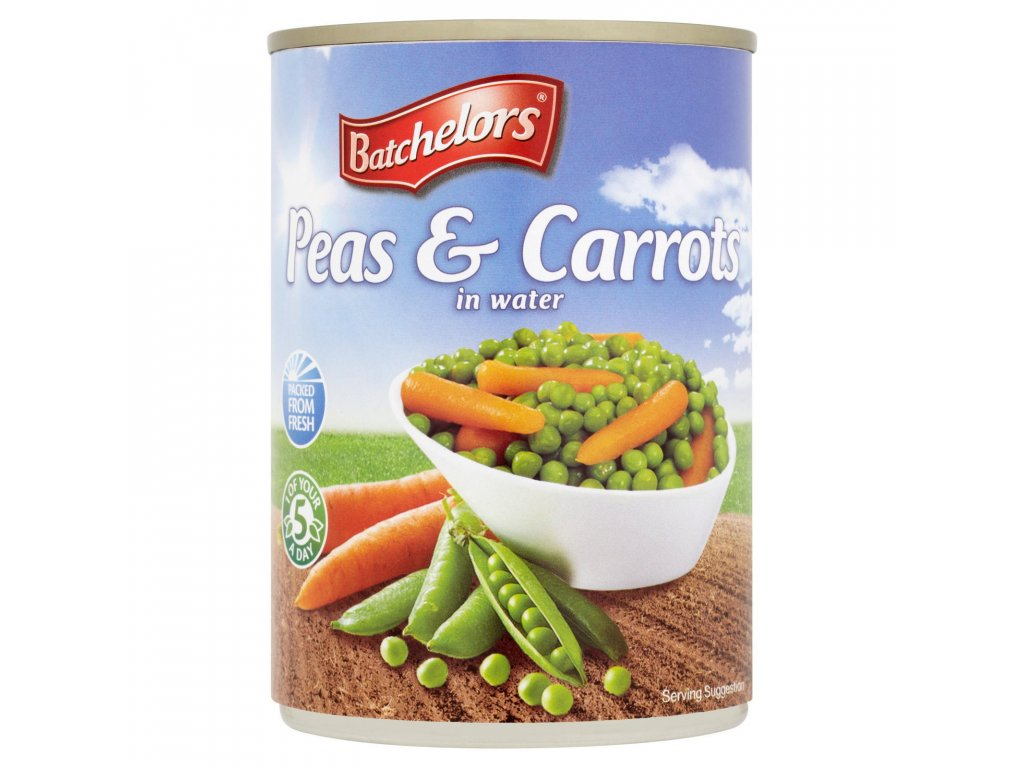 batchelors peas and carrots in water 400g 56061 T1