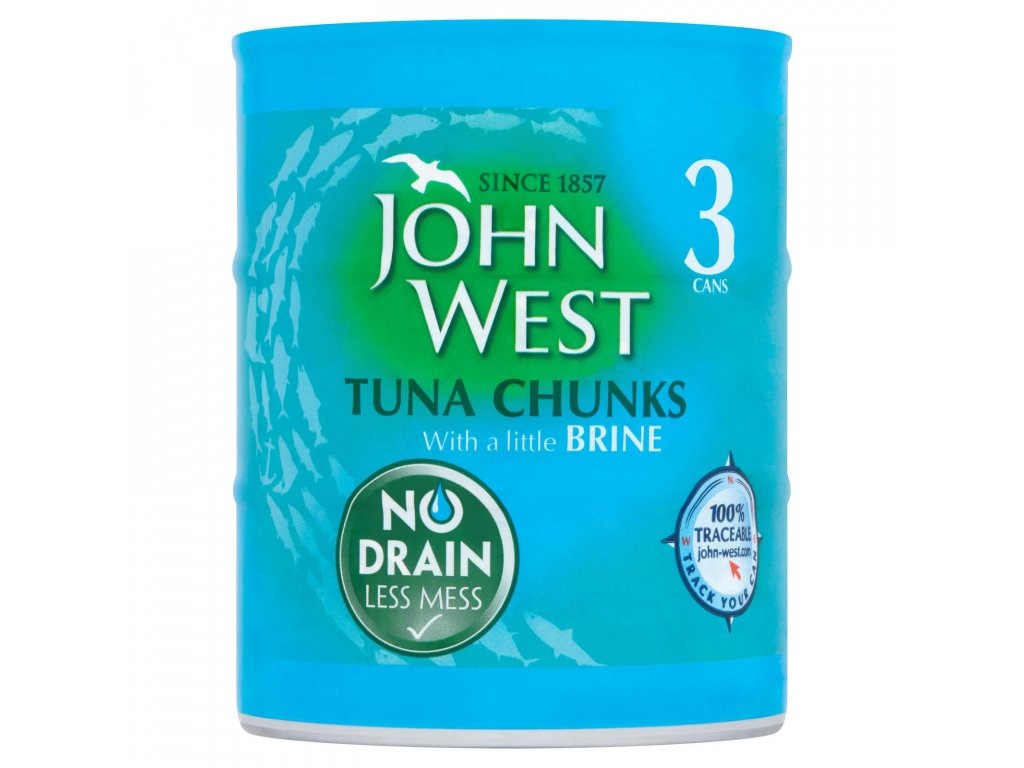 john west tuna chunks with a little brine 3 x 110g 76890 T1