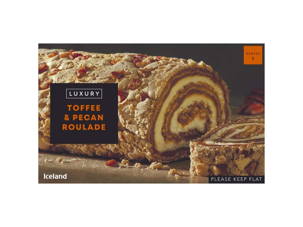 iceland luxury toffee pecan roulade 420g 73234
