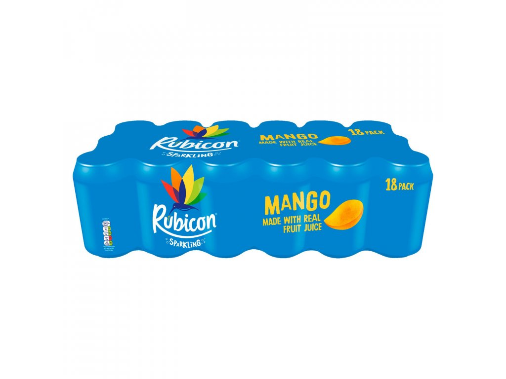 rubicon sparkling mango juice drink 18 x 330ml 76332 T1