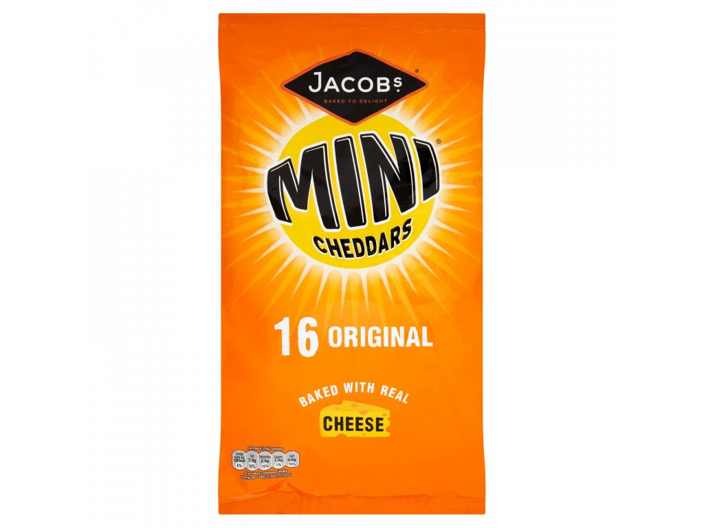 jacobs mini cheddars original cheese snacks 16 pack 400g 73534 T1