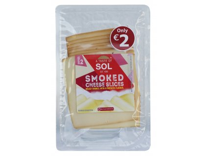 Smoked cheese slices