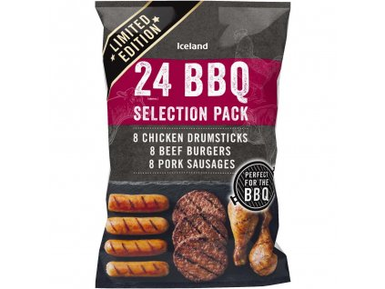 iceland 24 approx bbq selection pack 18kg 66598