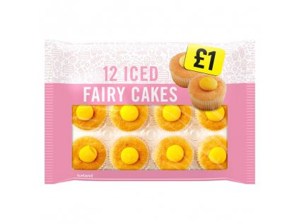 iceland iced fairy cakes 12 pack 65760