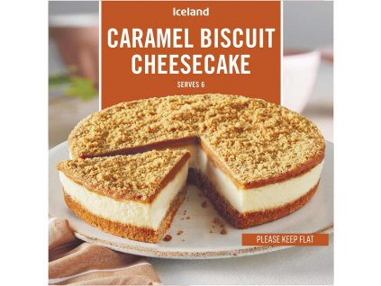 iceland caramel biscuit cheesecake 480g 80763