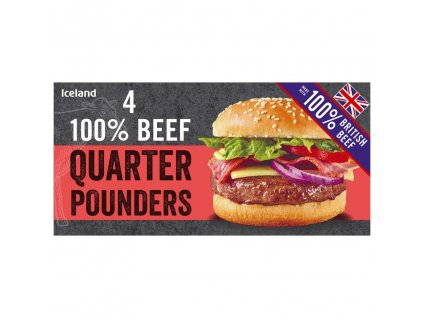 iceland 4 100 british beef quarter pounders 454g 55264
