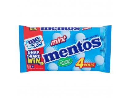 mentos chewy dragees mint rolls 4 x 38g 44352 T5