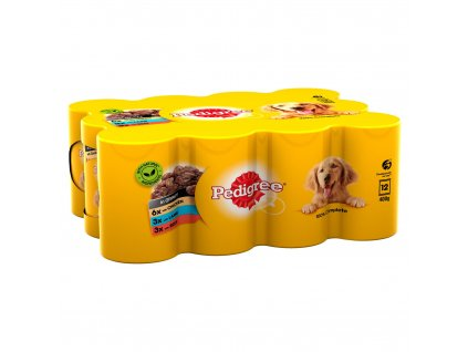 pedigree wet dog food tins mixed selection in gravy 12 x 400g 72292 T1