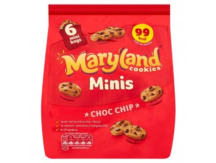 maryland minis cookies choc chip 6 mini bags 1188g 78154 T1