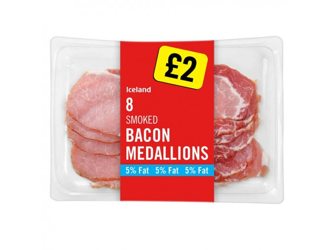 iceland 8 smoked bacon medallions 200g 79707